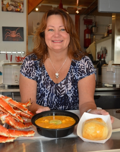 Tracy at the Crab Shack